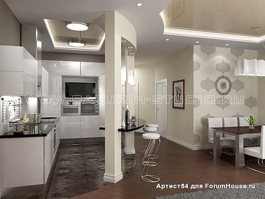 Современный дизайн кухни, кухни-студии - фото