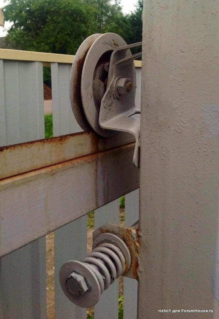 Окатные самодельные ворота привод для откатных ворот nice rd400