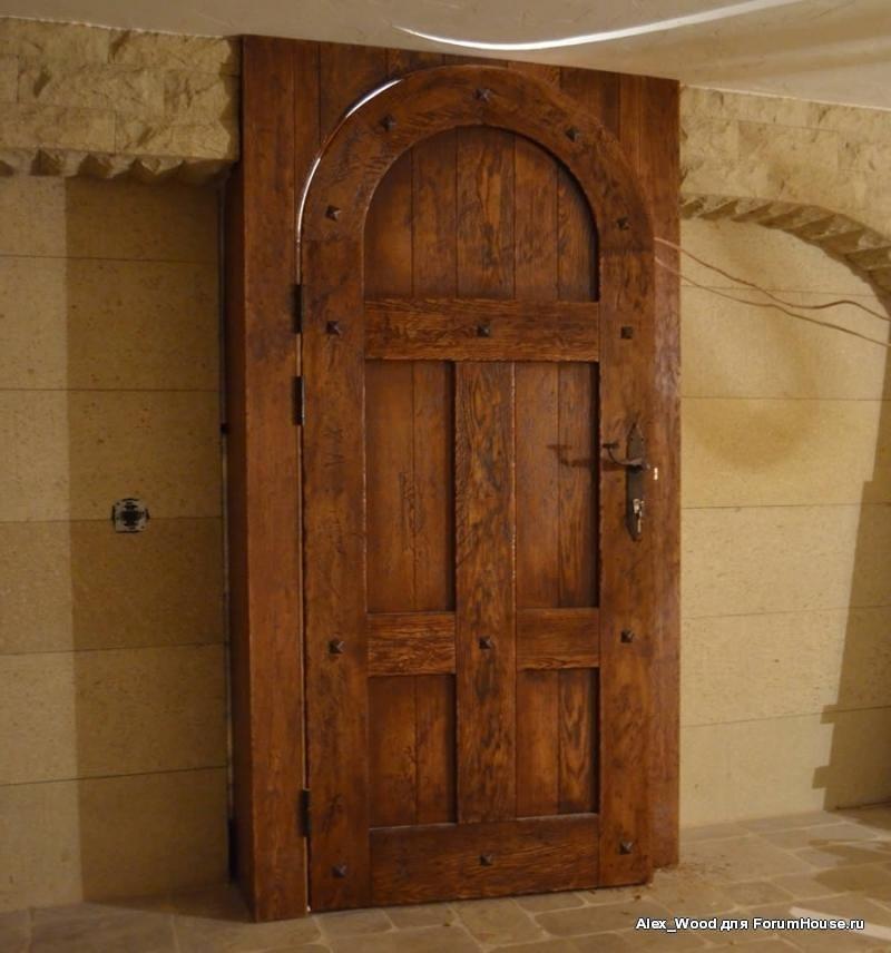 мощные входные двери из дуба на заказ