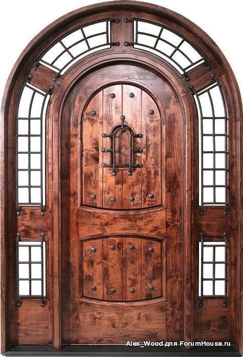 входные двери для кафе из дерева