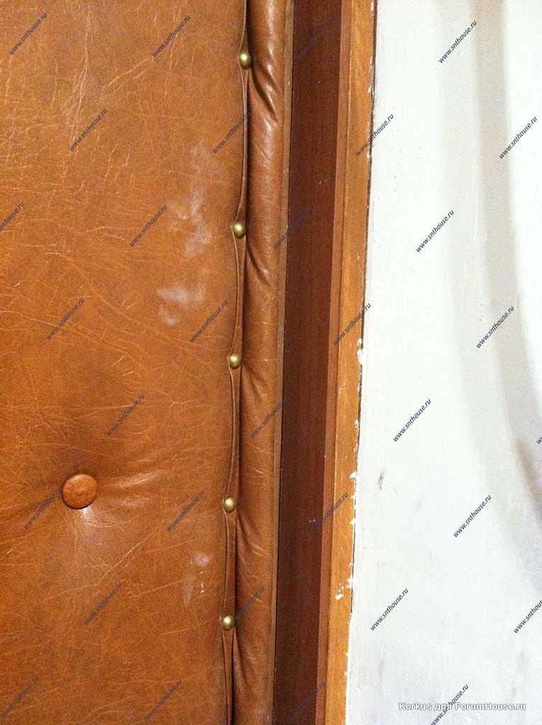 входных дверей из дерматина