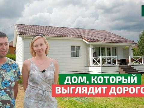 Бюджетный белый дом из сип-панелей с фиброцементным сайдингом