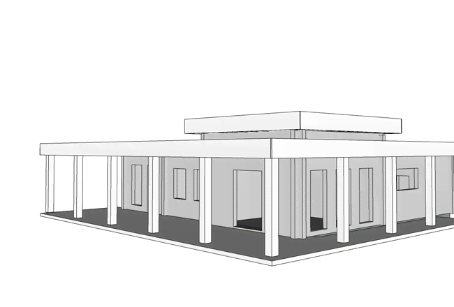 А вот и проект дома.